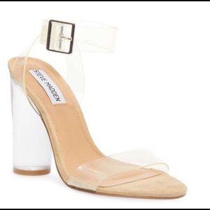 f67423a9d43a98 Women s Steve Madden Clear Heels on Poshmark